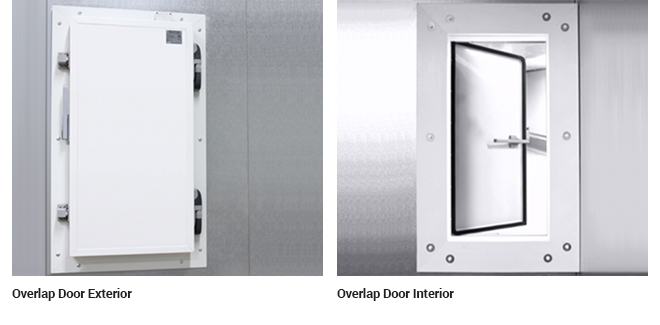 An overlap low temperature door